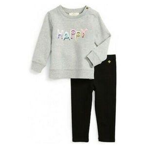 Kate Spade Happy Baby Sweatshirt and Leggings